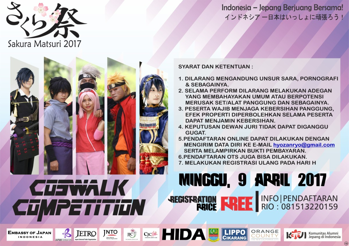FLYER LOMBA COSPLAY SAKURA